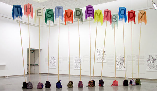 The Student Body by Maria McKinney, It's Very New School at Rua Red Gallery, 2017. Photo by Dave Reilly.