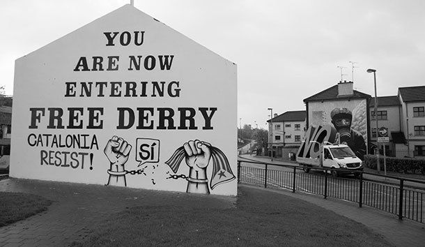 Santiago Sierra - NO Tour - Ireland 2017. Photo by Anthony Martin.